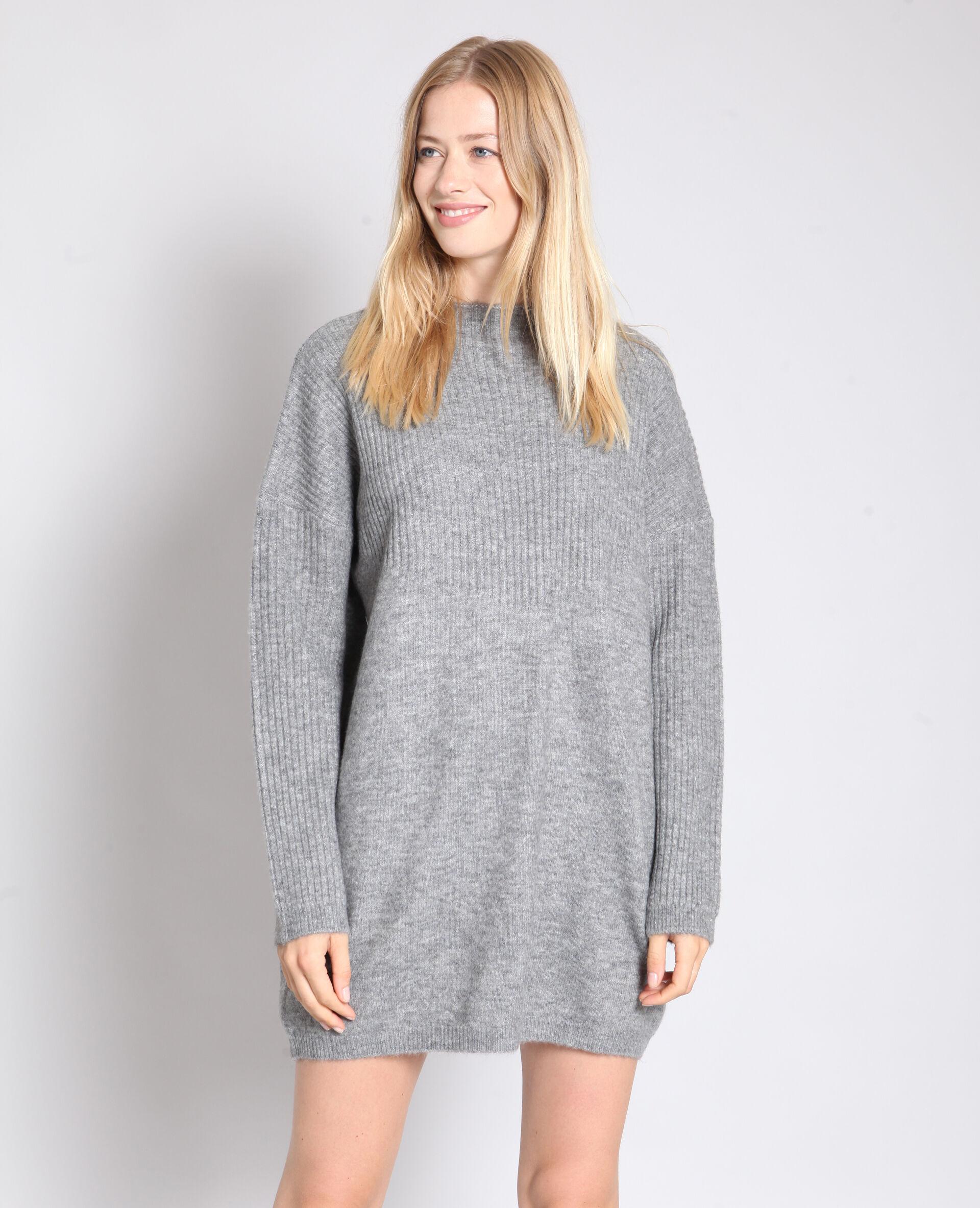 sweater jurk grijs