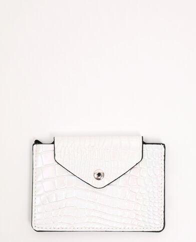 Porte-monnaie simili cuir blanc