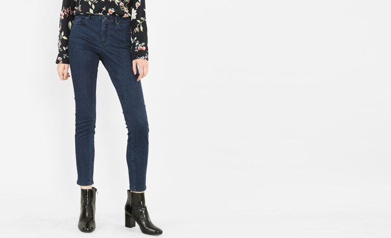 Skinny mid waist bleu