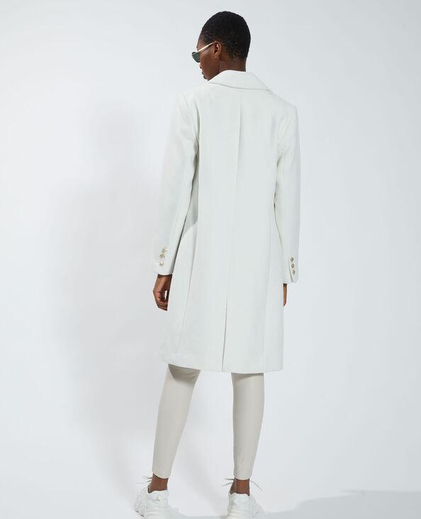 Manteau long blanc - Pimkie