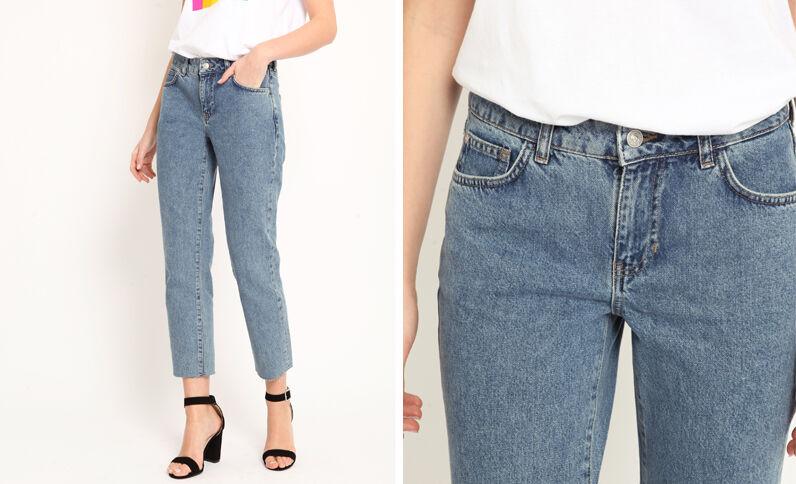 Rechte jeans denimblauw