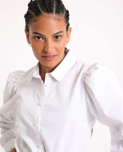 Hemd met pofmouwen wit