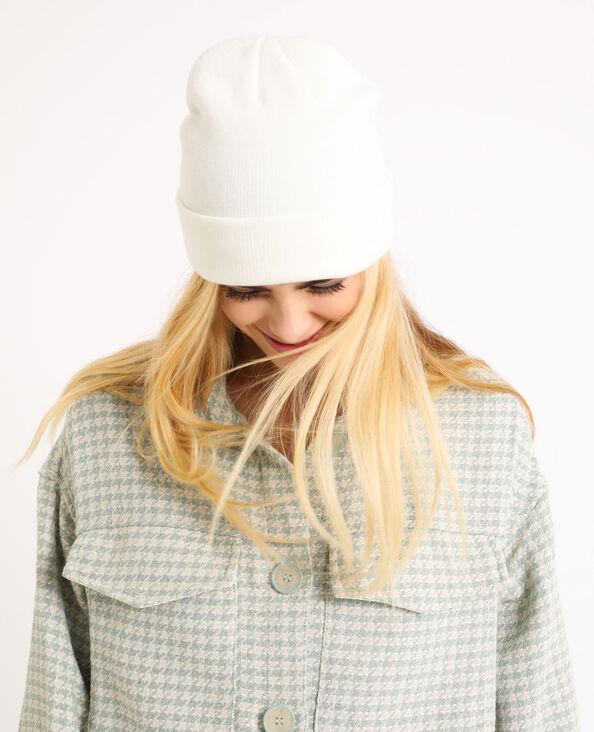 Muts van tricot Beige