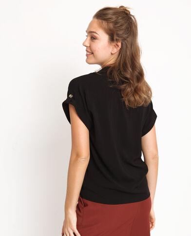 Hemd met korte mouwen zwart