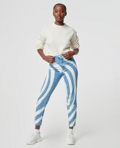 Jeans met gedraaid effect denimblauw - Pimkie