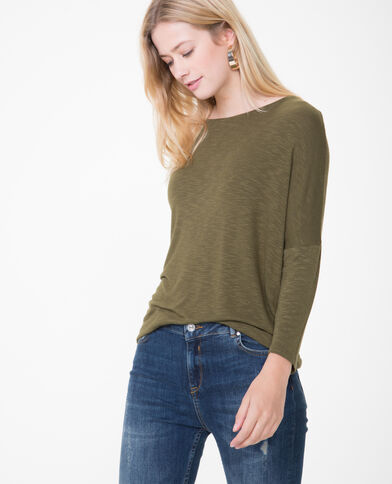 T-shirt à manches chauve-souris kaki