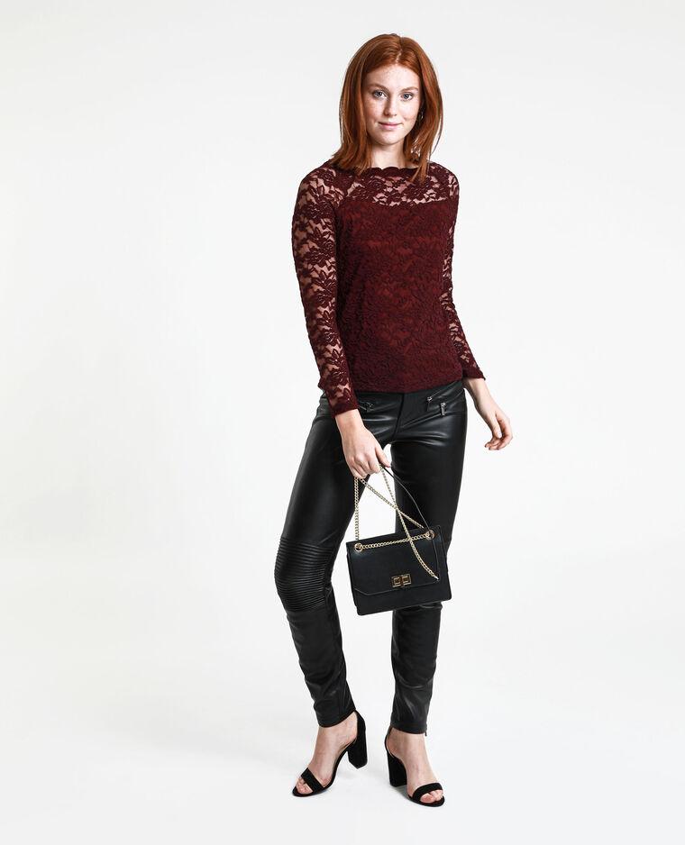 Pantalon en simili cuir noir
