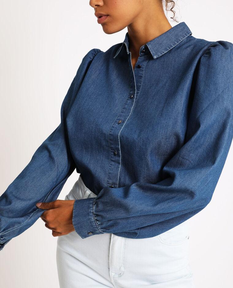 Chemise en jean bleu foncé