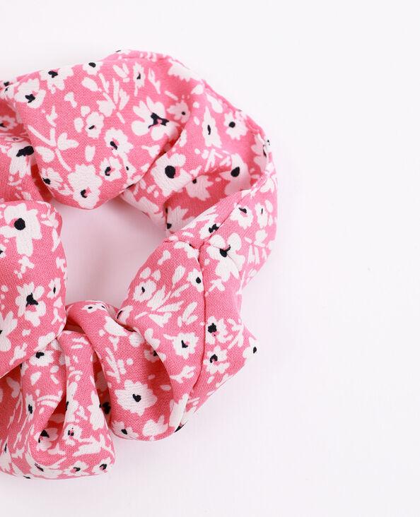 Scrunchie met kleine bloemen roze