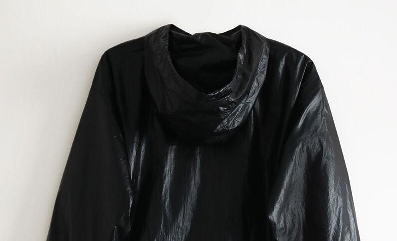 Windjack met kap zwart