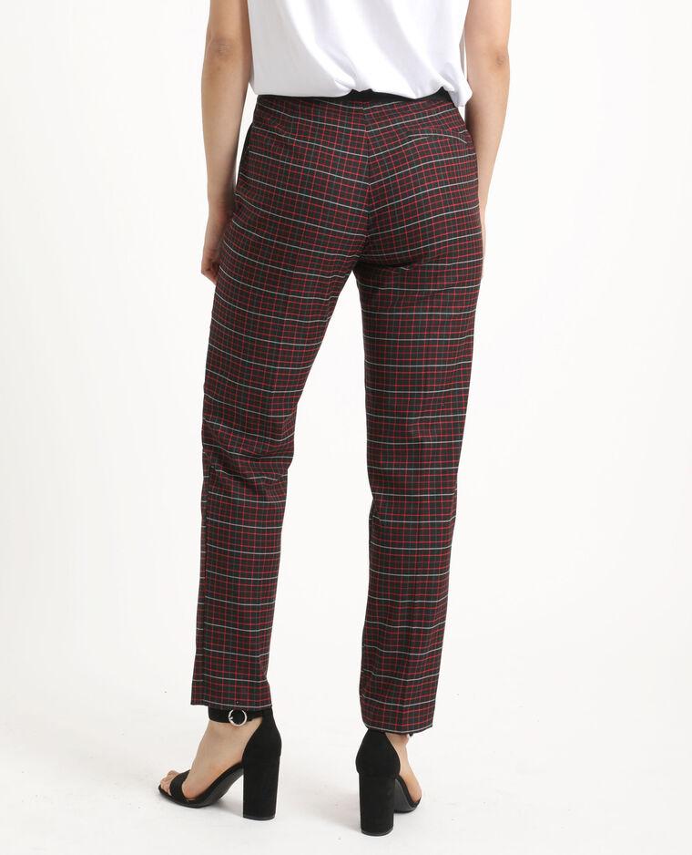 Pantalon city à carreaux noir