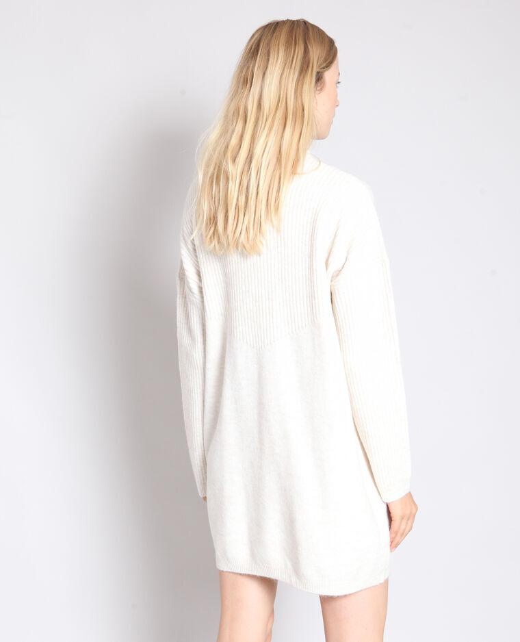 Robe pull blanc cassé