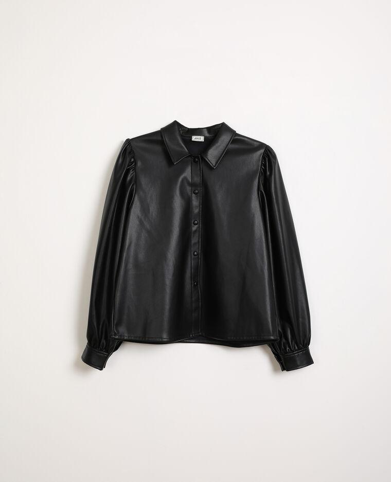 Chemise en simili cuir noir - Pimkie