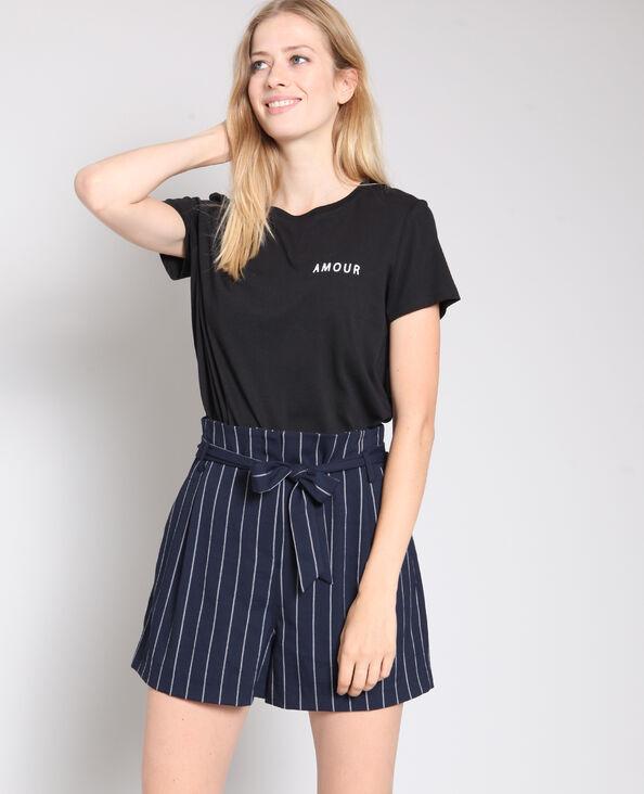 T-shirt Amour zwart