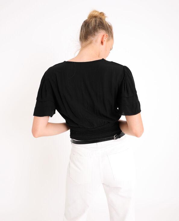 Korte blouse zwart