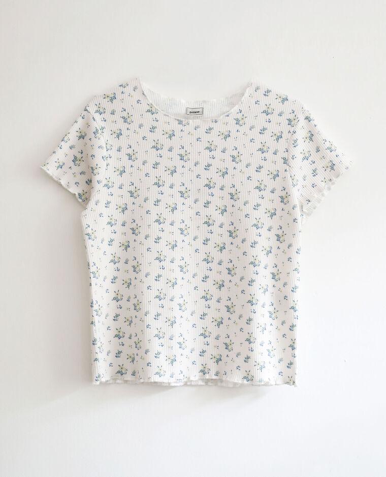 T-shirt imprimé fleuri blanc cassé - Pimkie