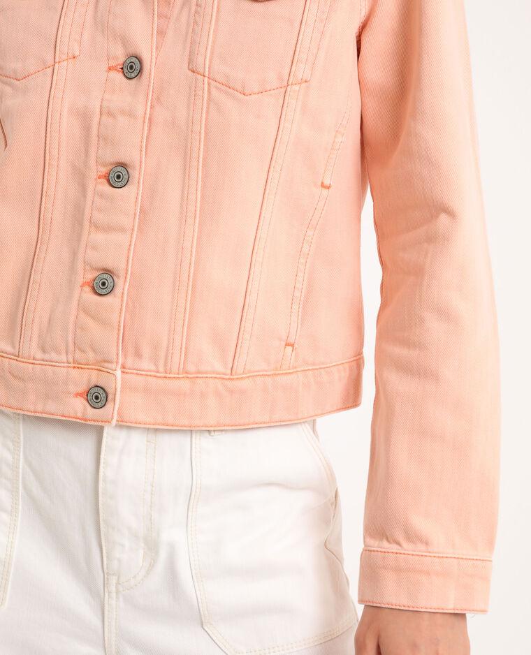 Veste en jean rose pâle