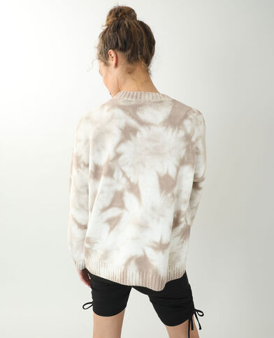 Pull oversize tie and dye beige