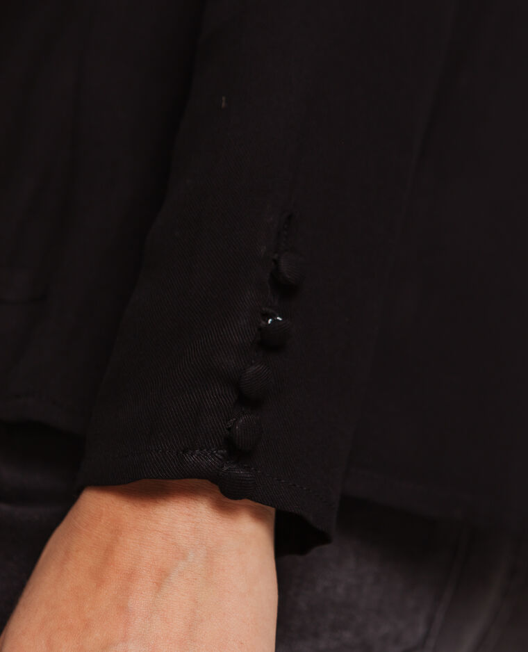 Blouse à manches longues noir