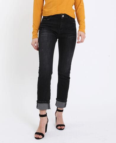Slim fit jeans met middelhoge taille zwart