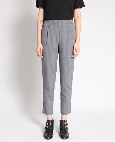Pantalon city à rayures gris