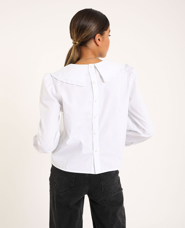 Hemd met grote kraag wit - Pimkie
