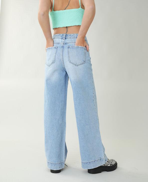Wide leg jeans Lichtblauw - Pimkie