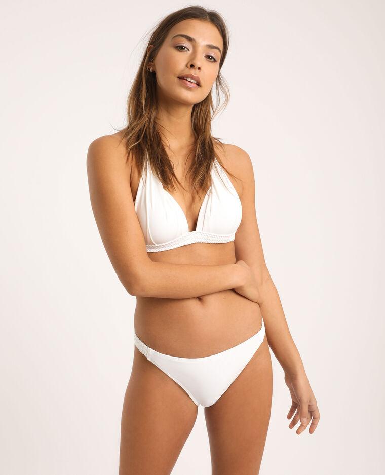Gevlochten bikinislip wit