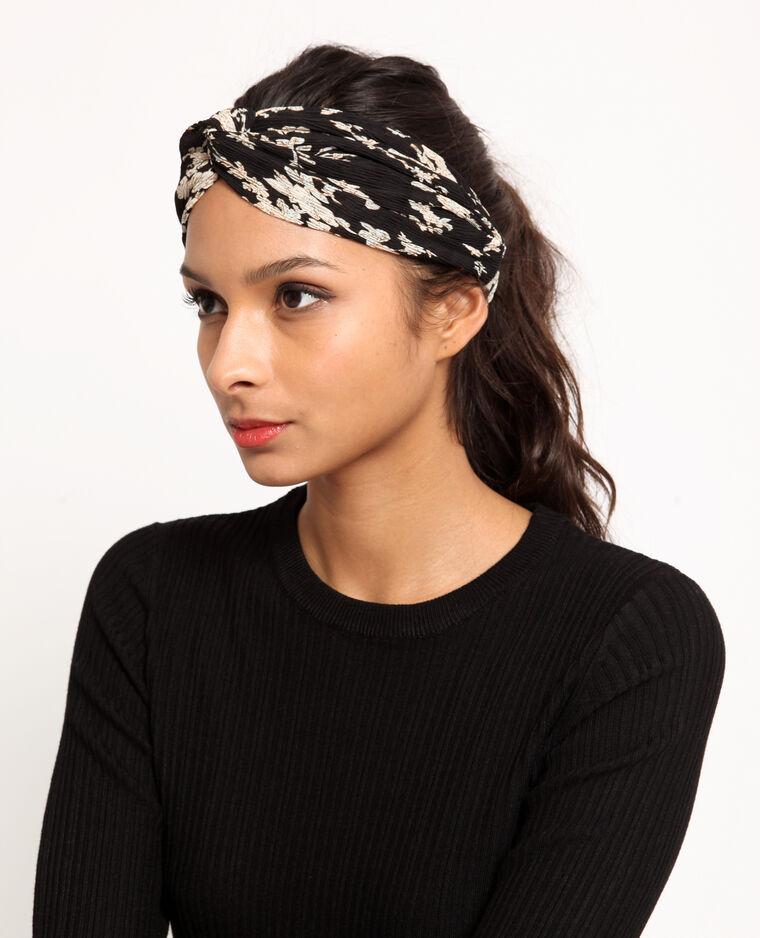 Fleurige hoofdband zwart