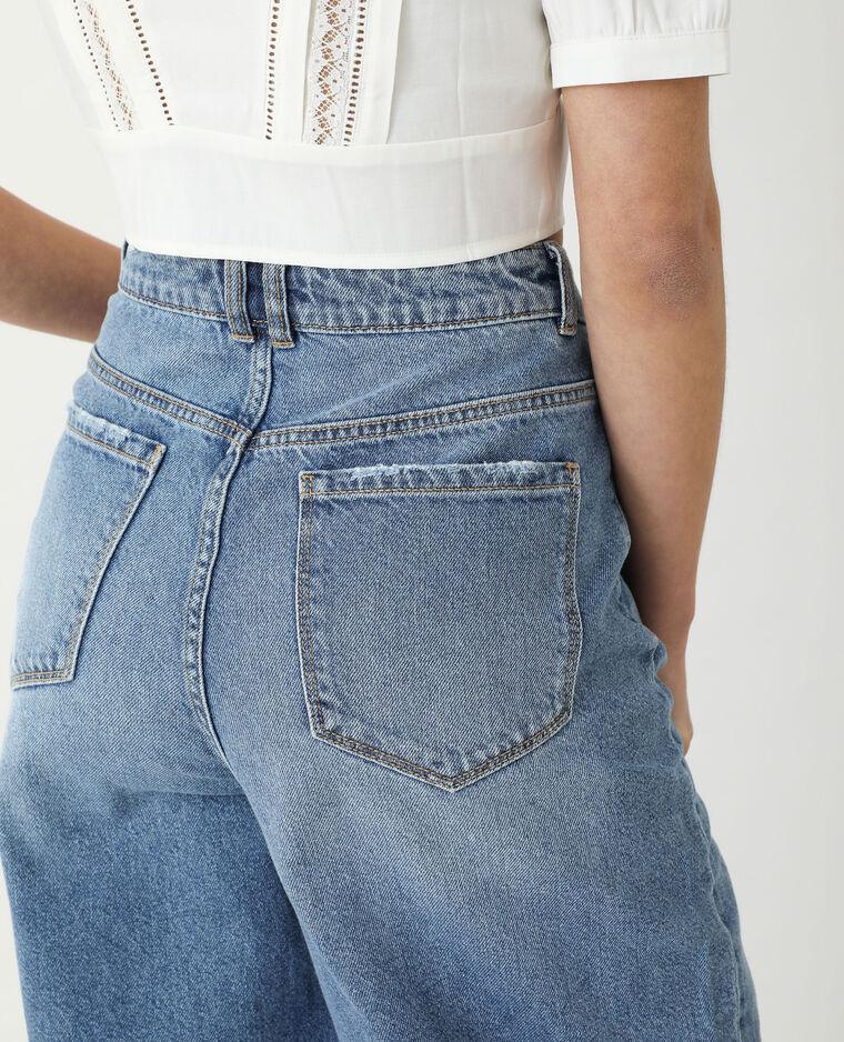 Jean slouchy high waist bleu denim