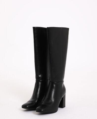 Laarzen met hoge hakken zwart