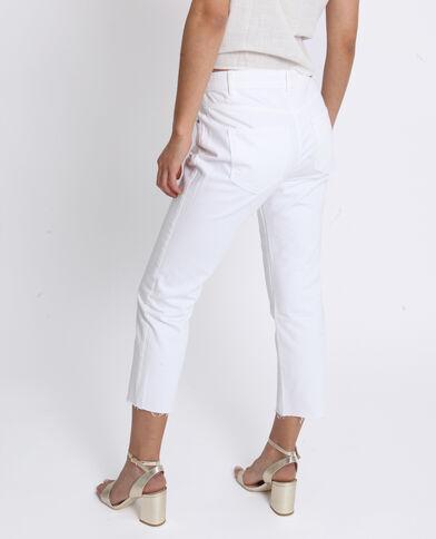 Jean mid waist écru