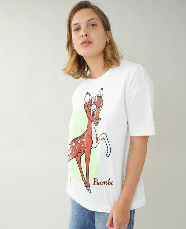 T-shirt ample Bambi blanc cassé - Pimkie