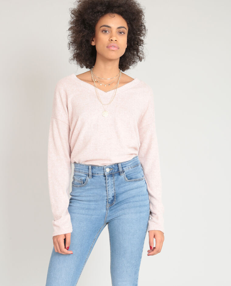 Pull doux rose
