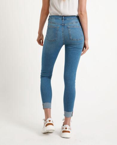 Skinny jeans met studs denimblauw