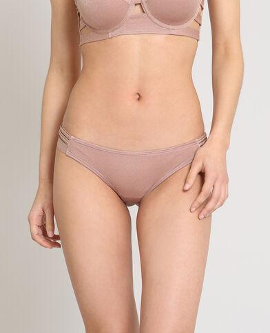 Bikinibroekje met lurex Roze
