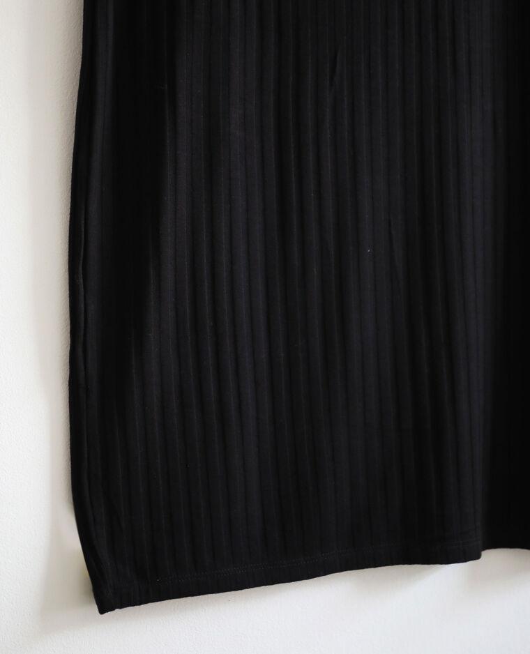 Robe côtelée noir