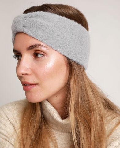 Headband à nœud gris perle