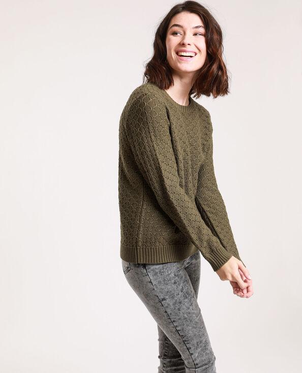Trui van origineel tricot kaki