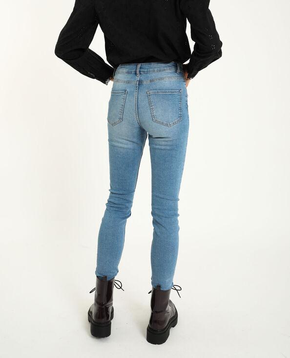 Skinny jeans met middelhoge taille denimblauw