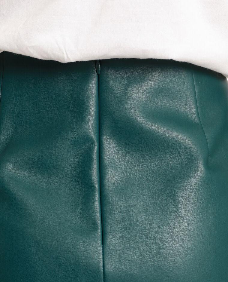 Jupe en faux cuir vert