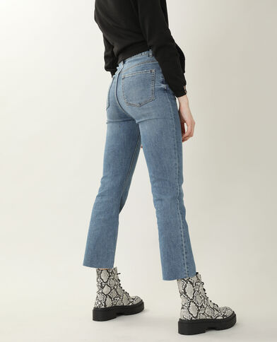 Bootcut jeans met hoge taille denimblauw