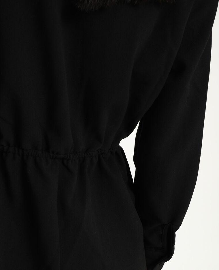 Playsuit in blazerstijl zwart