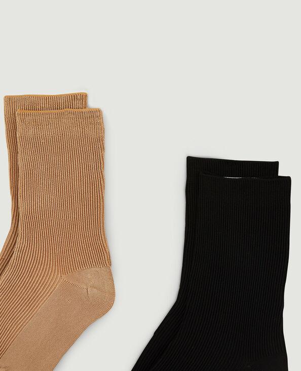 Set van 2 paar sokken kastanjebruin - Pimkie