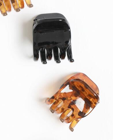Set van 4 haarklemmen zwart