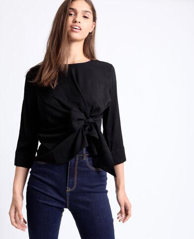 Effen blouse zwart