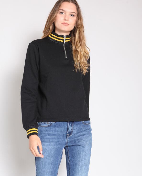 Sweater met opstaande kraag zwart