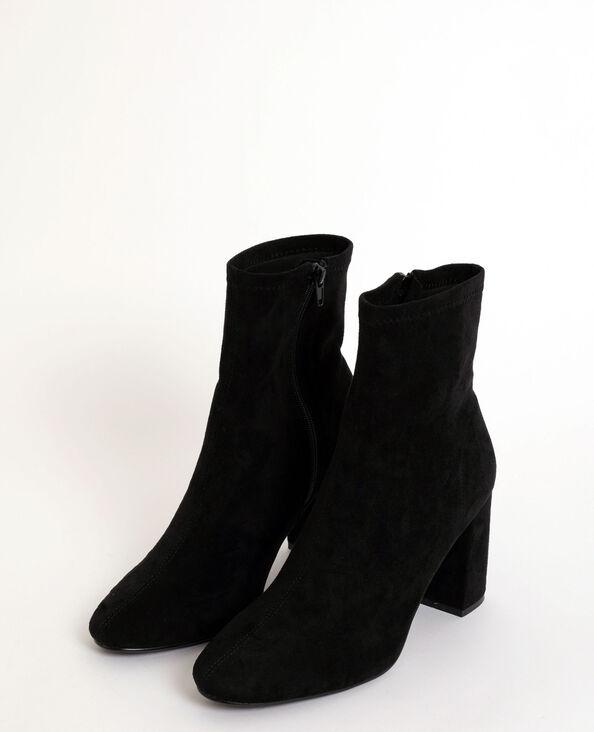 Laarzen van suedine zwart