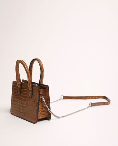 Mini sac croco beige ficelle