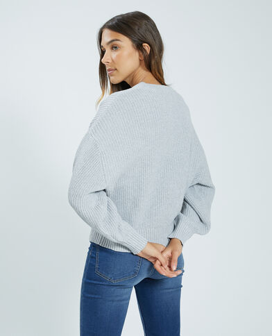 Pull maille gris - Pimkie